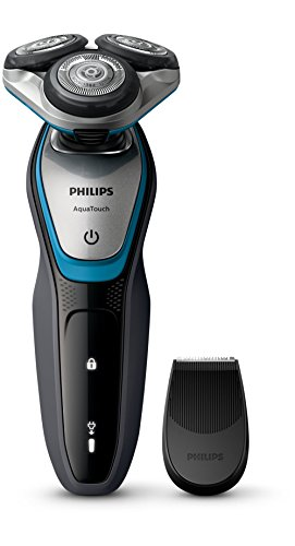 Philips AquaTouch S5400–Rasoio elettrico, rotazione, 2Anno (S), Nero, Blu, Argento, LED, batteria/energia, agli ioni di litio)