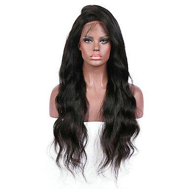 Premier Body Wave Front Lace Echthaar wigs-glueless 130% Dichte 100% unverarbeitetem brasilianisches Remy Full Lace Perücken mit Baby Haarspange für Frau -