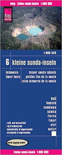 Reise Know-How Landkarte Kleine Sunda-Inseln (1:800.000) - Bali, Lombok, Sumbawa, Sumba, Flores, Timor, Alor, Wetar -  Karte Indonesien 6: world mapping project (Karte Indonesien)
