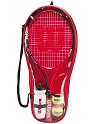 Wilson Roger Federer 25 - Set básico de tenis, color rojo/negro, 63,5 cm
