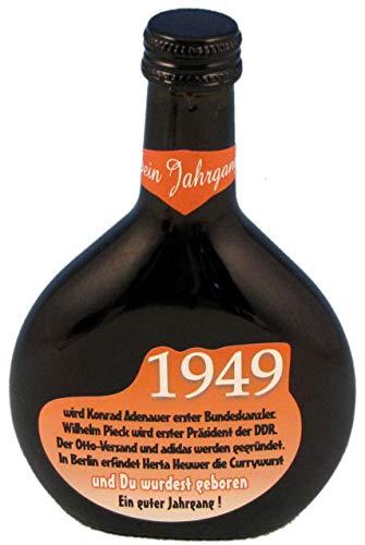 QUATSCHmanufaktur Bocksbeutel zum 70. Geburtstag (fürJahrgang 1949) Rotwein 0,25 l (70 Artikel Zum 70. Geburtstag)