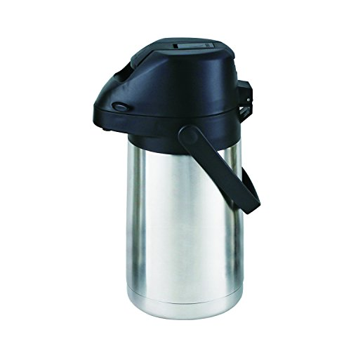 Cello Piper Stainless Steel Airpot Flask, 2 Liters, Silver