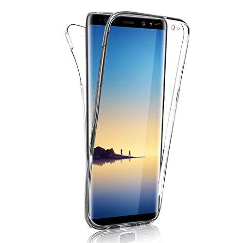 Samsung Galaxy Note 8 360 Grad Hülle, Samsung Galaxy Note 8 Etui, Ultra Dünn Liquid Crystal Soft-Flex Handyhülle Bumper Style Premium TPU Silikon Perfekte Passform Schutzhülle Samsung Galaxy Note 8 6,3