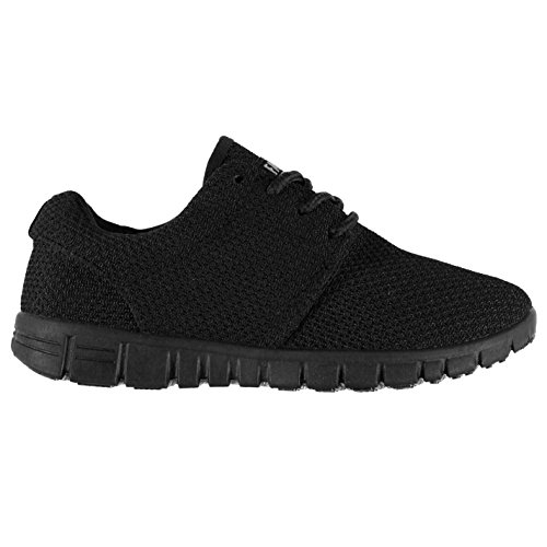 Fabric Mercy Runners Enfant Chaussures Baskets À Lacets Sneakers Sport Running Noir/Noir