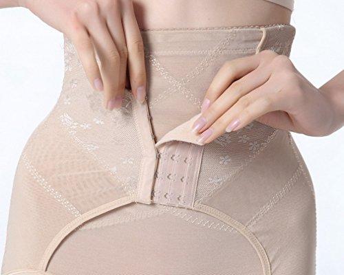 Smile YKK Culotte Push Up Femme Taille Haute Sculptante Gainante Ventre Minceur Abricot