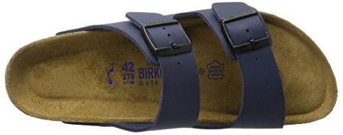 Birkenstock Arizona 51063, Unisex - Erwachsene Clogs & Pantoletten aus Birko-Flor (schmal) Blau