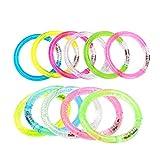 Toyvian LED Bunte Flash-Armband Spielzeug Glow Armbänder für Party 12pcs (zufällige Farbe)
