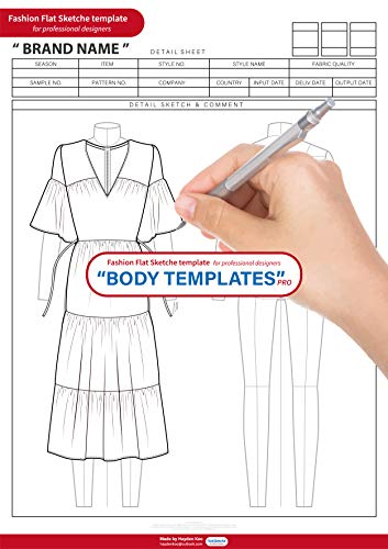 Kommerzielle Kostüm Designer - Fashion Flats Body Templates Female Pro