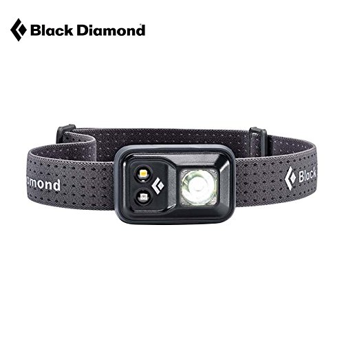 Black Diamond Cosmo Headlamp Black/Outdoor Stirnlampe mit Rotlicht und Dimmfunktion/Batteriebetrieben, max. 200 Lumen