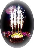 Set di 4 candele fontana luminosa per decorazione festa o compleanno Categoria F1