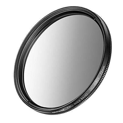 Neewer 72mm Filtro Neutro Denso Graduato (Grigio) per Fotocamere Canon EOS 7D, 60D DSLR con EF-S 18-200mm f/3,5-5,6 IS, EF 28-135mm f/3,5-5,6 IS USM Zoom Obiettivi e Altre Telecamere con Filettatura da 72mm