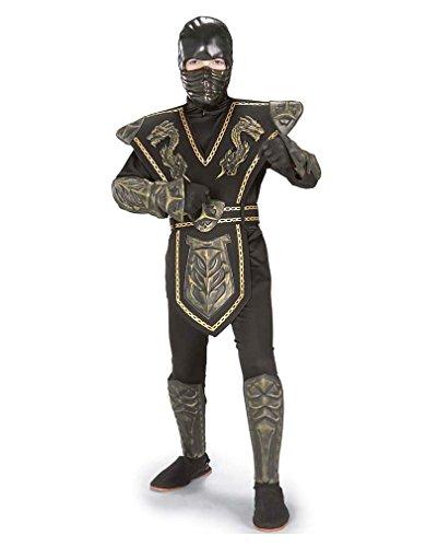 Gold Dragon Warrior Ninja Kostüm (Kostüme Ninja Baby Turtle)