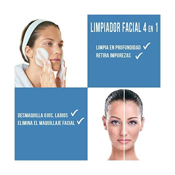ZOWIX Desmaquillante facial mousse. Limpiador en espuma para ojos, cara y cuello. Foam Natural Piel Seca y Mixta. Acido…