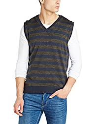 Peter England Mens Cotton Sweater (PSW51708127_MediumGreyWithBlue_Medium)