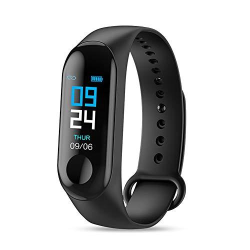 Lai-LYQ Pulsera Actividad Impermeable Reloj Inteligente Fitness Tracker Deportes con Pulsómetro para Mujer Hombre Black