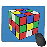 Mouse Pad Magic Cube Art Love Rectangle Rubber Mousepad 8.66 X 7.09 Inch Gaming Mouse Pad with Black Lock Edge