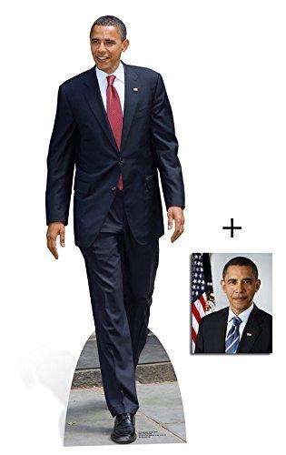 *FANBÜNDEL* - PRESIDENT BARACK OBAMA - LEBENSGROSSE PAPPFIGUREN / STEHPLATZINHABER / AUFSTELLER (Größe 186cm) - 44th President Of The USA - Democratic Party - Politician - ENTHÄLT 8x10
