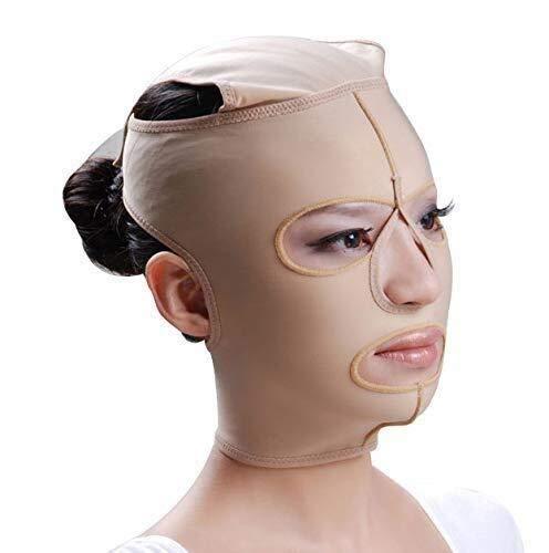 Facelifting-Maske, medizinische elastische Hülle, Facelifting, Straffungsmethode, Formgebung nach dem Modellieren mit Feinstbearbeitung, Kompressions-Facelifting-Maske, geeignet für Kopfumfang 49 ~ 63 -