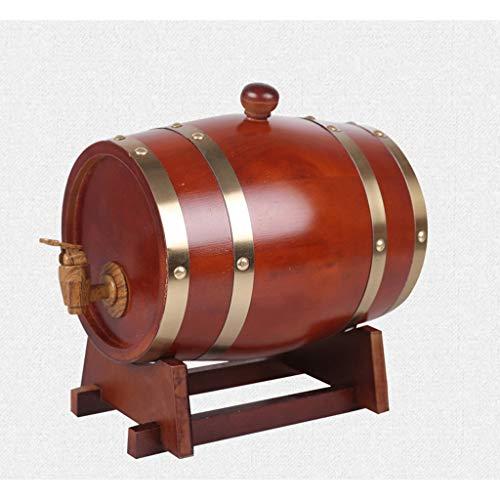 Betty Statuen Eichenfässer, Holzwein, Weißweinfässer, Wein, Zierfässer, Whisky, Bier, Wein, Bourbon, Brandy 3 Colours (Farbe : Rot, größe : 50L) -