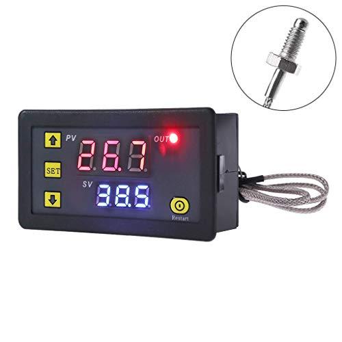 BASSK Digitaler Temperaturregler -60~500 ℃ K-Typ M6-Fühler Thermoelementsensor Eingebauter Thermostat