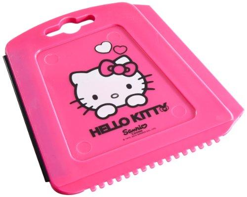 Hello Kitty\' Trapez Eiskratzer für das Auto, Eisschaber mit Eisbrecher-Zähnen und Wasserabstreiflippe