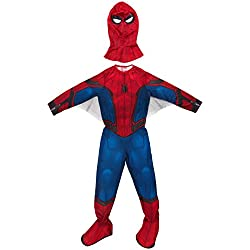 Rubies Marvel–I-630730S–Disfraz clásico de Spiderman Homecoming con cubrebotas