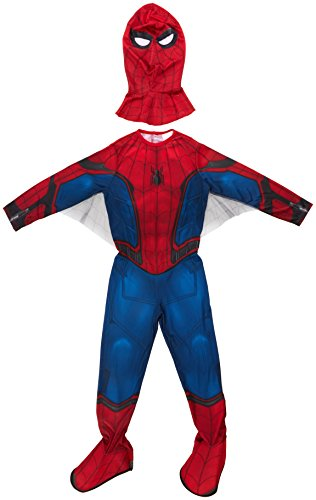 Rubies Marvel – I-630730S – Disfraz clásico de Spiderman Homecoming con cubrebotas