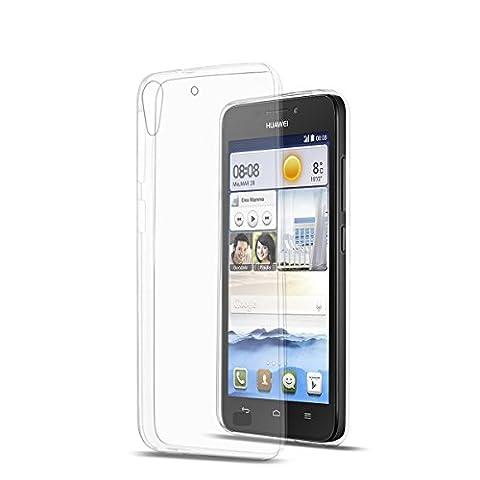 Silicone TPU Housse étui coque transparent pour Huawei Ascend G620s