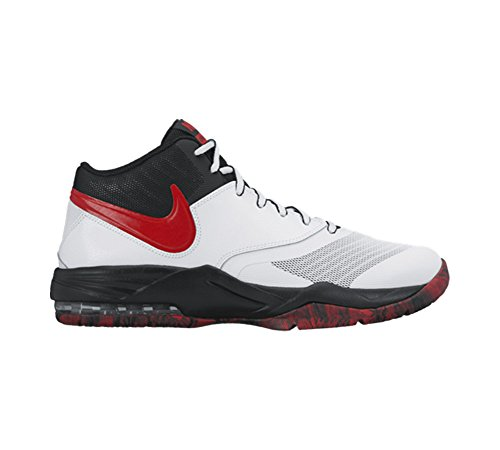 Nike Air Max Emergent, Scarpe da Basket Uomo, Bianco, 42 EU White/Black/Dark Grey/University Red