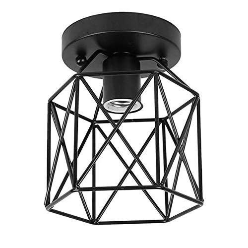 Glas Öl Lampe Schatten (ZHMA Semi-Flush Mount Deckenleuchte, Industrial Vintage Style Lampenschirm, Öl gerieben Bronze Finish für Flur Studie Zimmer Büro Schlafzimmer Dekoration)