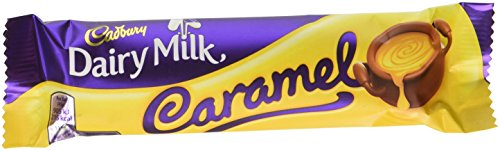 Cadbury Dairy Milk Chocolate Caramel Single Bar (Pack of 24)