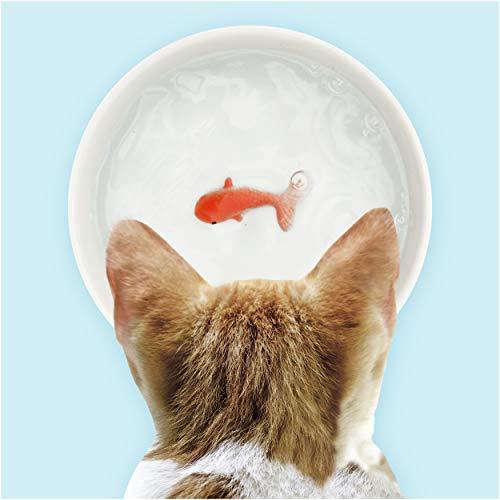 SUCK UK Sk Bowlfish1 Witzige Goldfisch Hunde- Oder Katzenschale Für Wasser Oder Futter |Katzenfutter & Hundefutter Schale| Keramikschale | Katzenzubehör, Weiß -