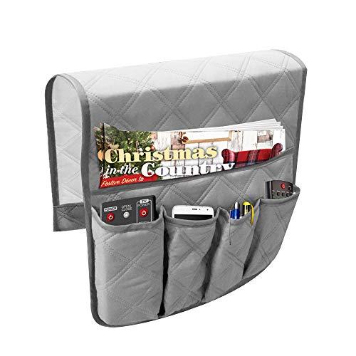 Wasserdicht Sofa Armlehne Storage Organizer für Tablets, TV Fernbedienungen, Telefone 4Farben Lagerung Organizer 88,9cm 33cm grau -