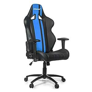 AKRACING ak-rush-bl Gaming Chefsessel Kunstleder 36,5x 56x 146cm, schwarz / blau, 56x36