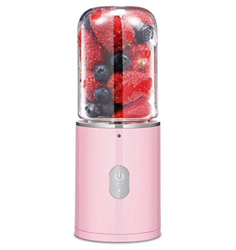 Yqzq Frullatore Portatile Portatile Juicer USB Electric Juice Cup for la casa, i Viaggi e Lo Sport all\'aperto Frullatore Personale (Color : Pink)