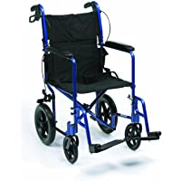 Drive Medical EXP19BL Expedition - Silla de ruedas ligera (aluminio, 48,2 cm), color azul