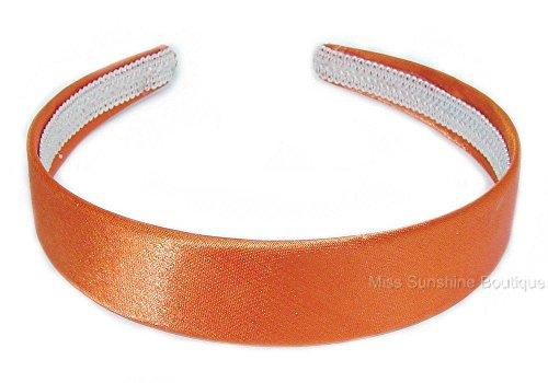 Serre-tête large satiné Modèle flexible 2,5 cm