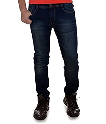 Ben Martin Men's Relaxed Fit Jeans (BMW007-JJ-3-DBGT-30-01_Dark Blue with Green Tint_30)