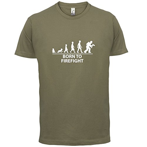 Born To Firefight - Herren T-Shirt - 13 Farben Khaki