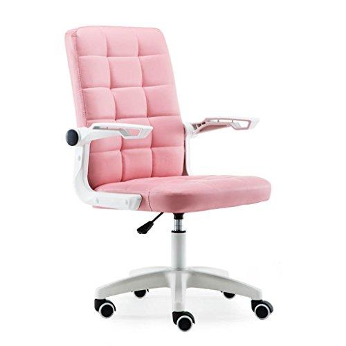 Schreibtischstühle Computer Stuhl Home Bürostuhl Günstige Stuhl Studentenwohnheim Freizeit Sitz Personal Drehstuhl Komfortable Stuhl (Color : Pink, Size : 56cm*56cm*102)