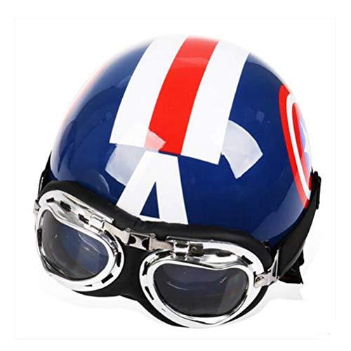Capitan America Moto Casco Abs Retro Moto Caschi Adulti Cappello di sicurezza Cappello di sicurezza può Smontare Bicicletta Elettrica Locomotive Street Racing Safety Helmet