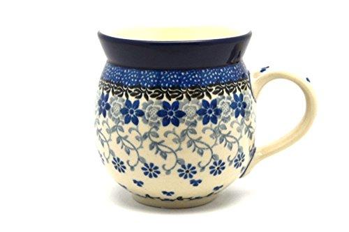 Polish Pottery Mug – 11 oz. Bubble – Silver Lace