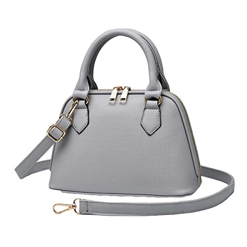 Donne Europa E Gli Stati Uniti Pu Shoulder Messenger Bag Shell Package Grey