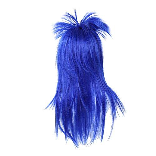 Glam Punk Rock Rocker-Kueken Tina Turner Peruecke fuer eine Kostuem - Blau (Rocker-küken-kostüm)