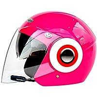 Hombres Mujeres Casco de Motocicleta Bluetooth de Media Cara (500-3000Ma), Casco