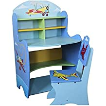 Conjunto de Estudio mesa de escritorio y silla para niños niños niños dibujo estante de lectura
