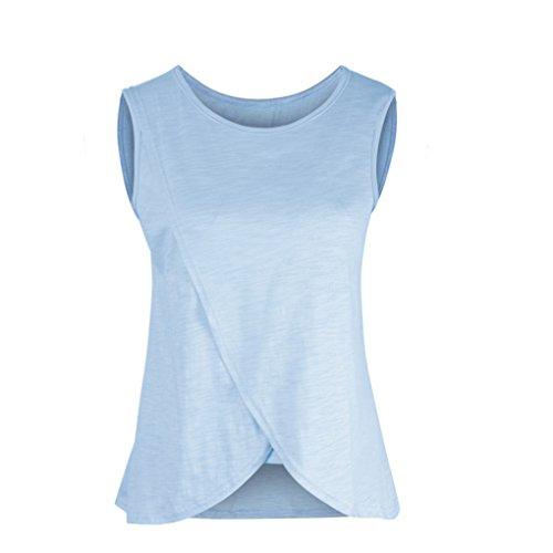 Mengonee Frauen Elastische Pflege Tank Tops Sommer Stillen Weste Kleidung Schwangere Stillen Mutterschaft Weiche T-Shirts