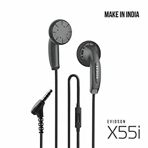 Evidson Audio X55i in-Ear Earphones with Mic (Black)