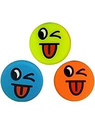3 Smiley Emoji Tennis Dampener Antivibrateurs Tongue