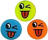 3 Smiley Vibrationsdämpfer Emoji Funny Tongu